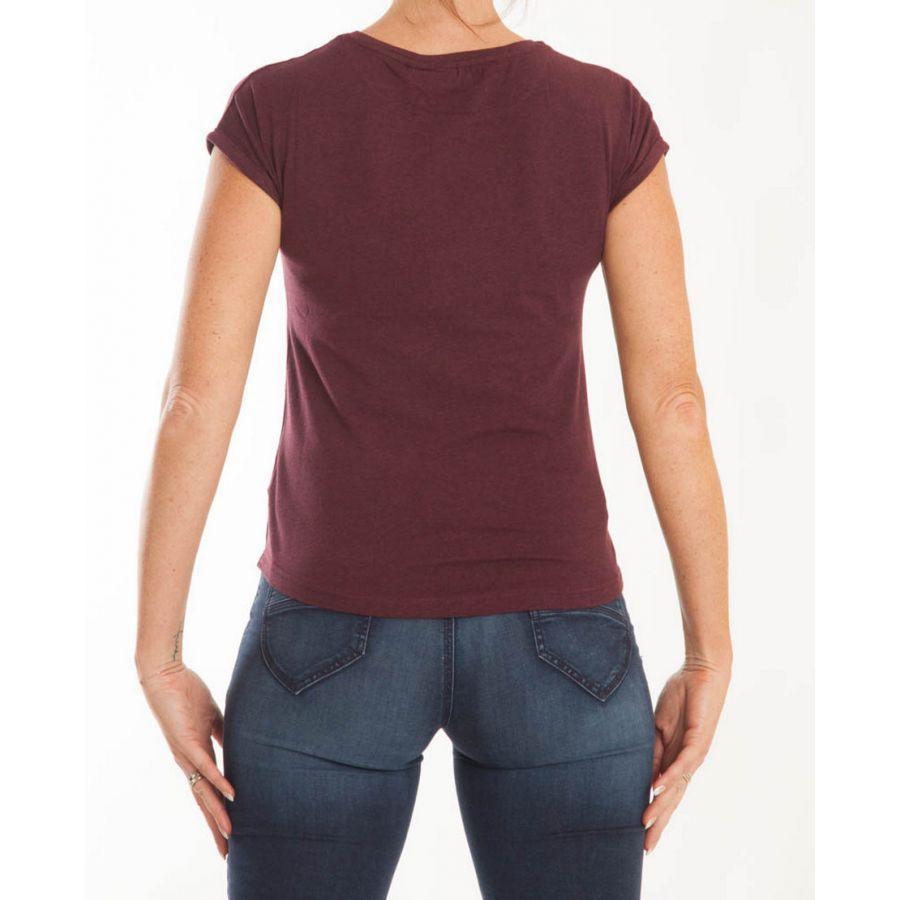 B Young Pamila t-shirt port royal combi  80618 Rood_3