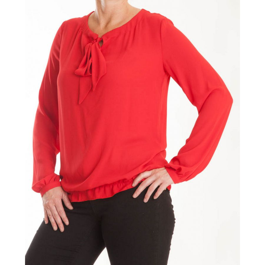 Only M Enya blouse crepon rosso_1