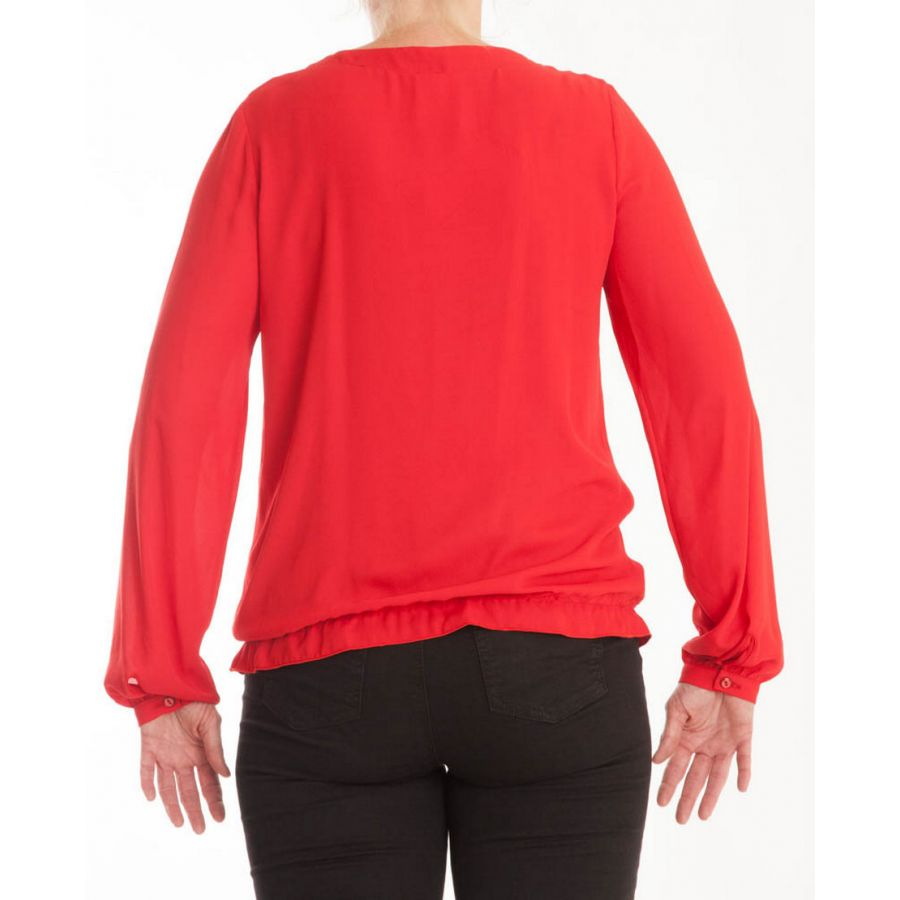 Only M Enya blouse crepon rosso_3