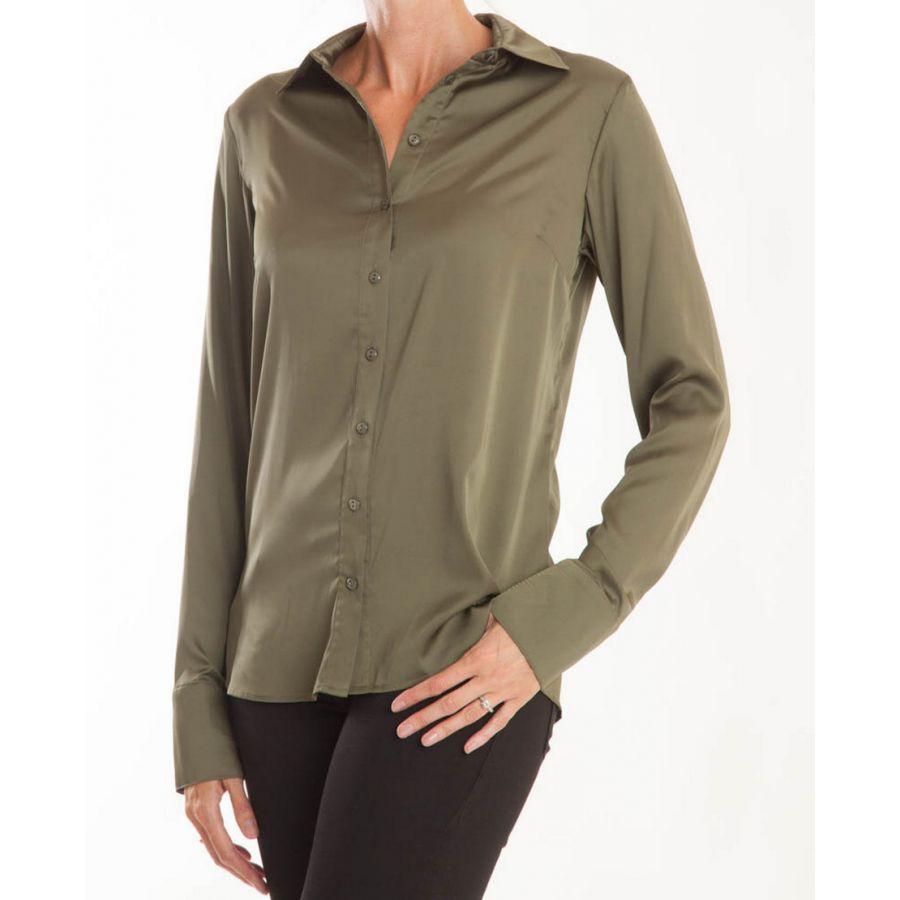 Only M Vira blouse satin verde_1