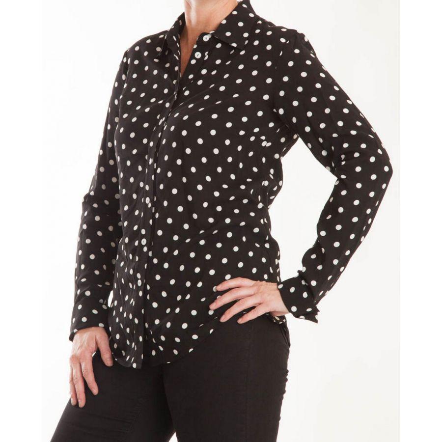 Only M Beata blouse nero panna_1