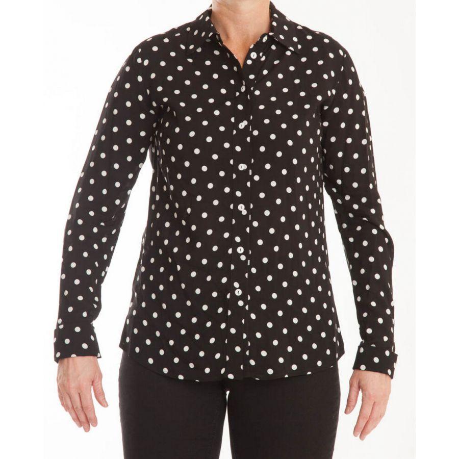 Only M Beata blouse nero panna_2