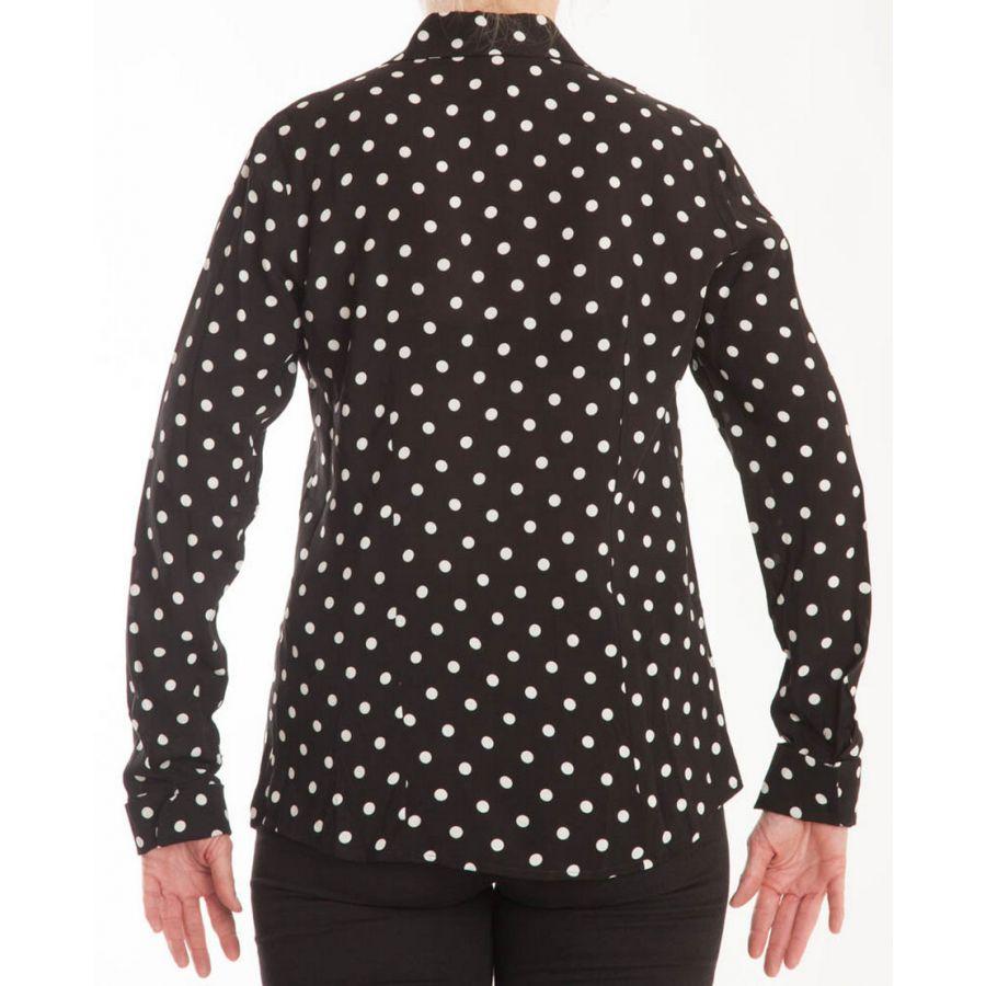 Only M Beata blouse nero panna_3