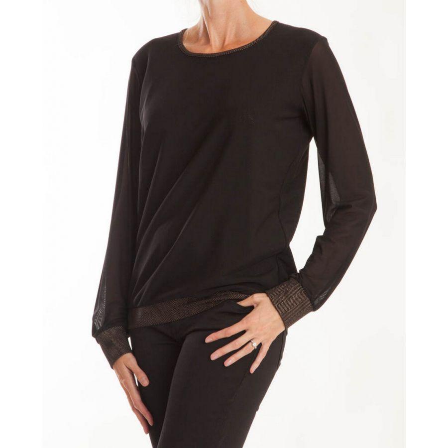 Only M Kerstin shirt tony nero oro_1