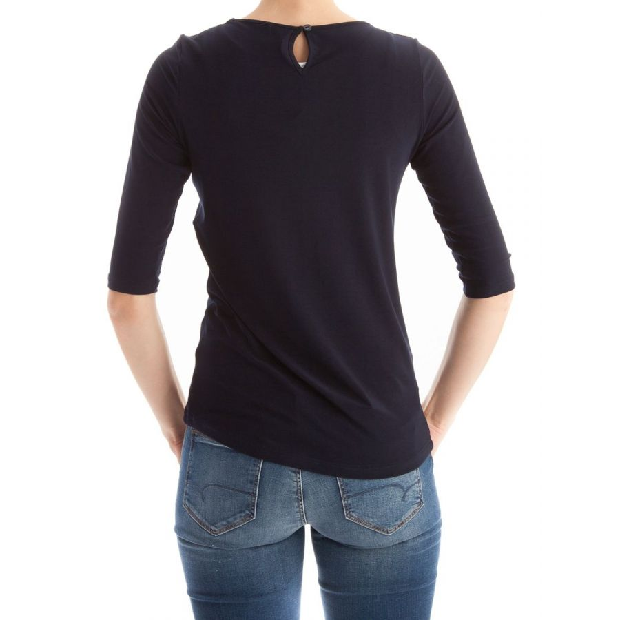 Only M Gaby shirt met kruisband snooze navy_3
