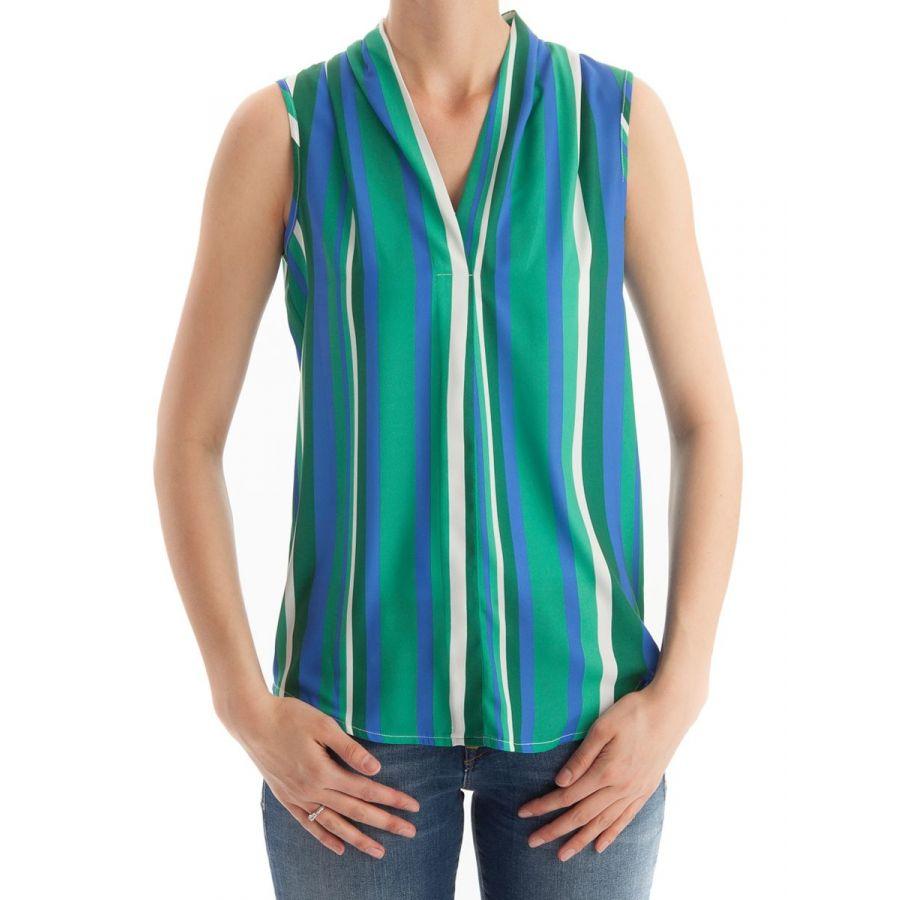 Only M Lotte blouse mouwloos stripe kobalto_1