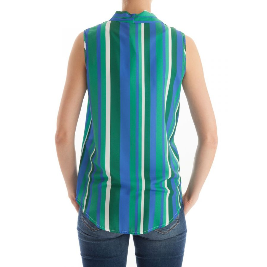 Only M Lotte blouse mouwloos stripe kobalto_3