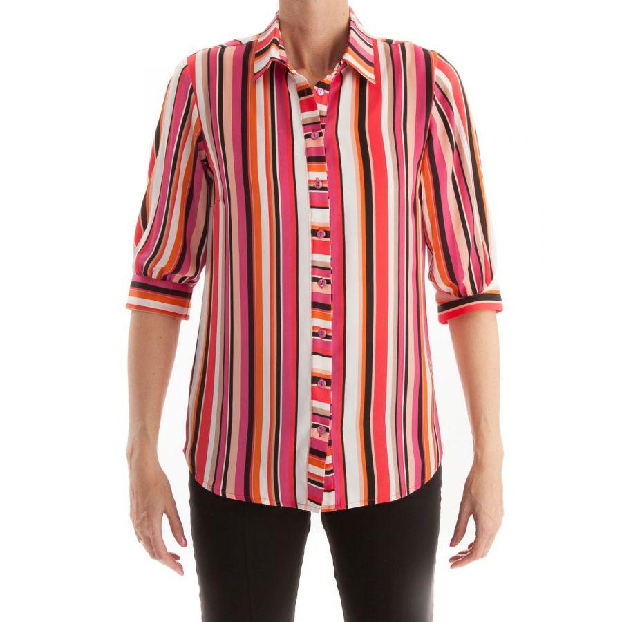 Only M Alexa blouse streep corallo/fuchsia_1