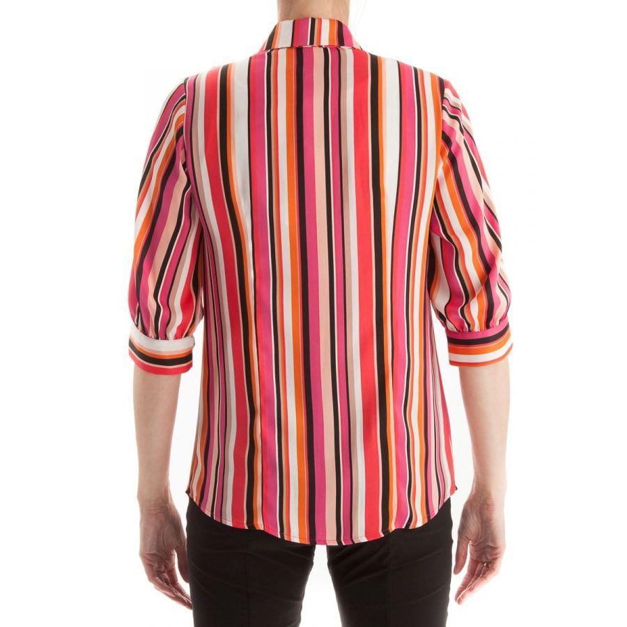 Only M Alexa blouse streep corallo/fuchsia_2