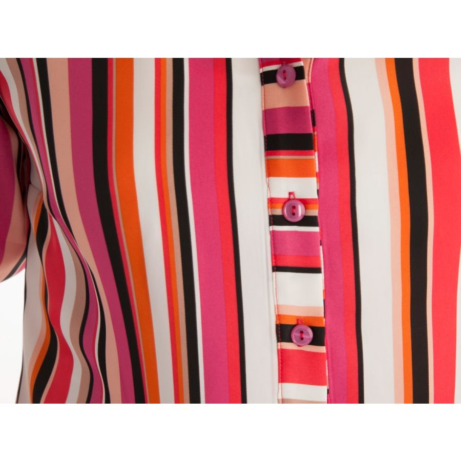 Only M Alexa blouse streep corallo/fuchsia_3