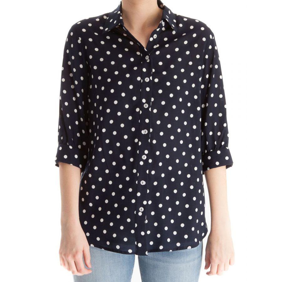 Only M Alexa blouse stip blauw/wit_1