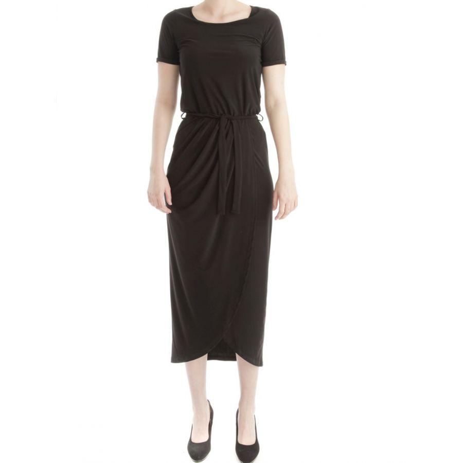 Only M Kiki jurk lang snooze zwart_1
