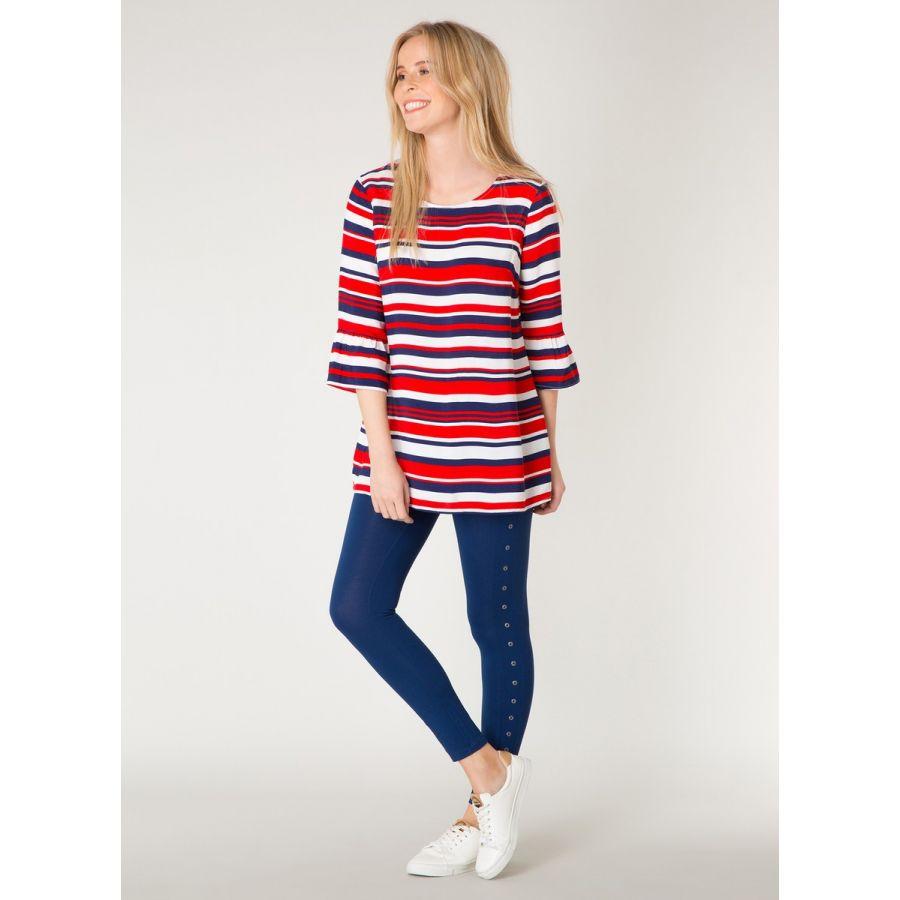 YEST Adeline blouse strepen rood/wit/blauw _1