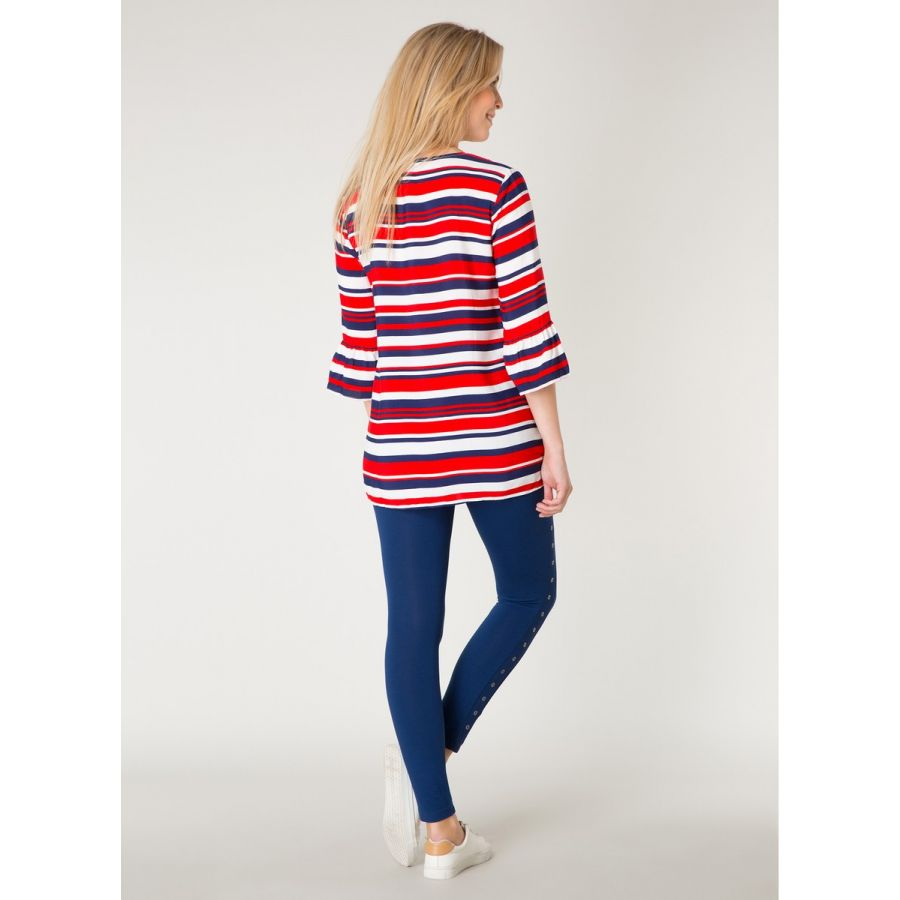 YEST Adeline blouse strepen rood/wit/blauw _2