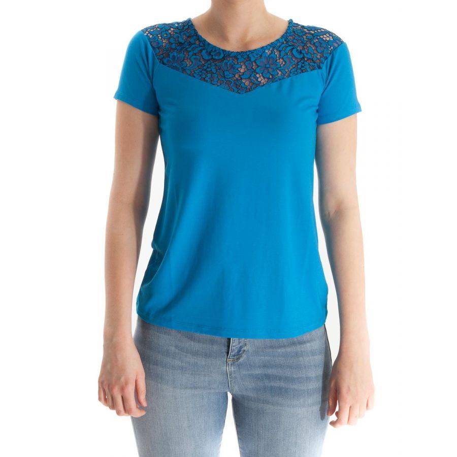 YEST Anoek shirt met kant royal blue_1