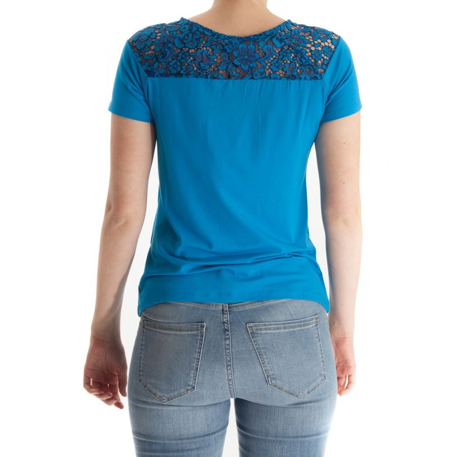 YEST Anoek shirt met kant royal blue_2