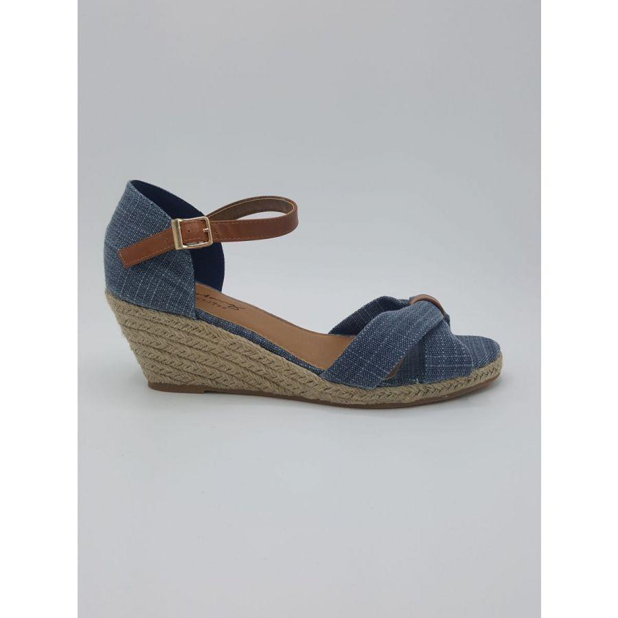 Mustang Shoes Iris sleekhak hoog blauw_1