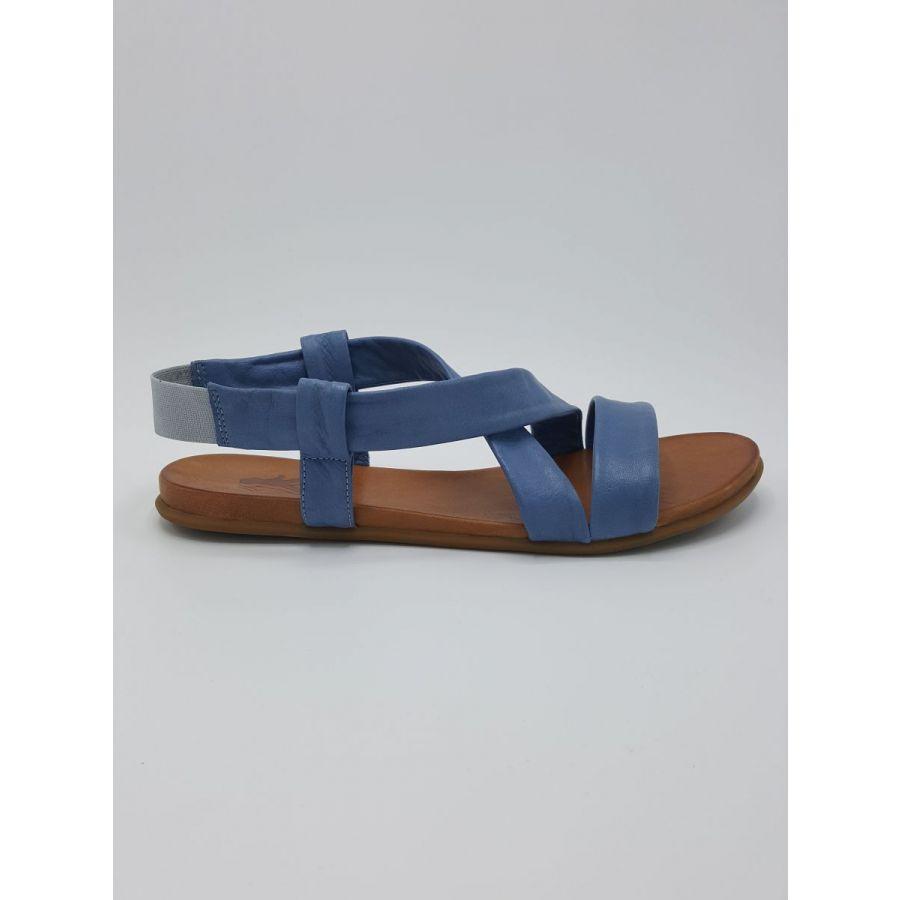 Mustang Shoes Liv sandaal kruisband leer lichtblauw_1