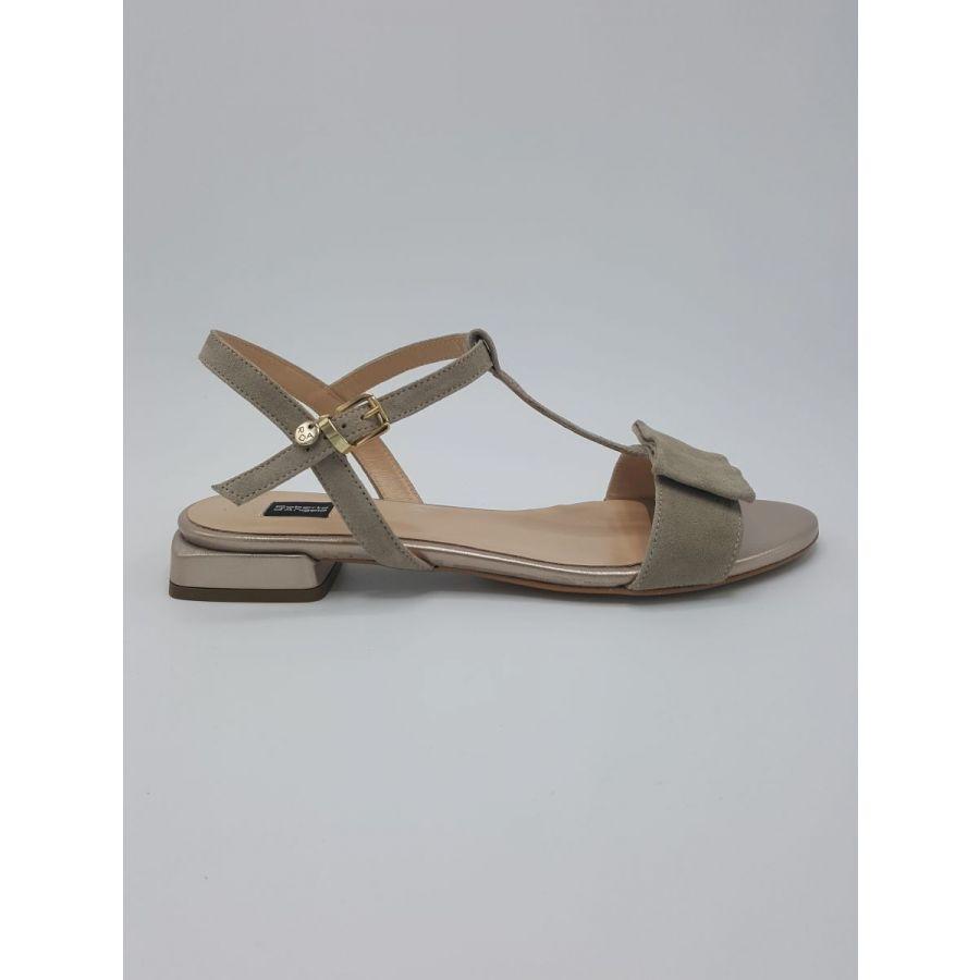 Roberto D'Angelo Evi sandaal strik zand/goud_1