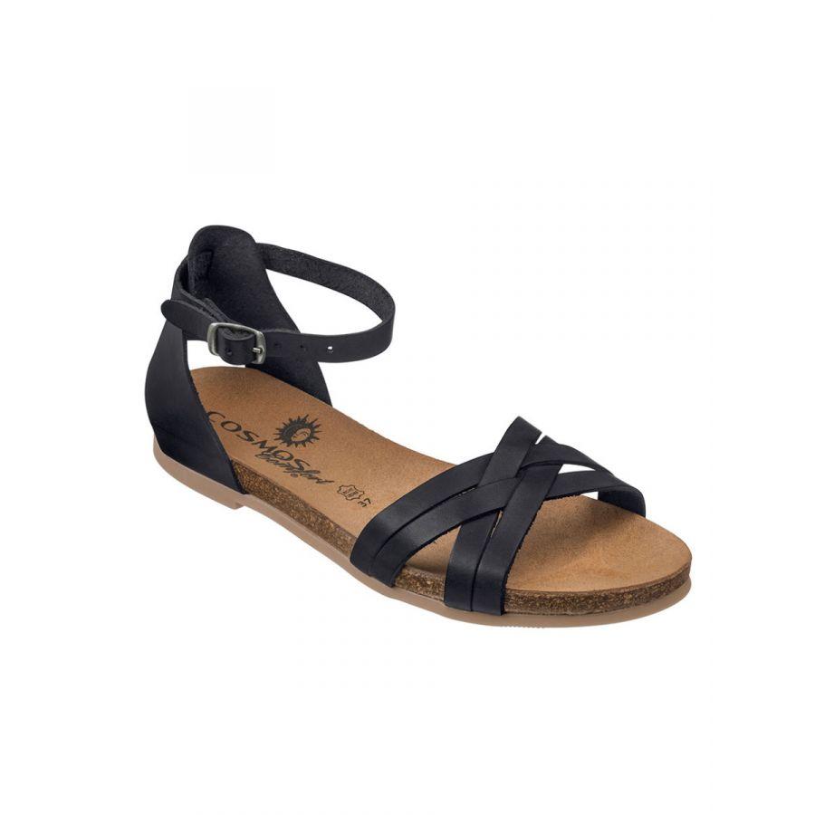 Cosmos Mila sandaal kruisbandjes zwart_1