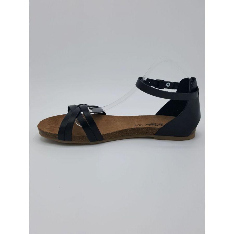 Cosmos Mila sandaal kruisbandjes zwart_2