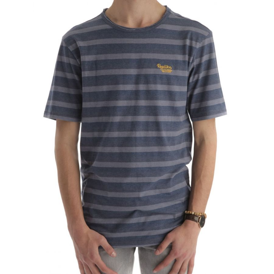 Replika Dano shirt strepen blauw_1