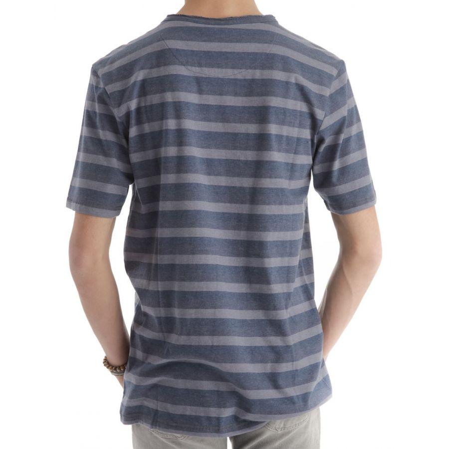 Replika Dano shirt strepen blauw_2