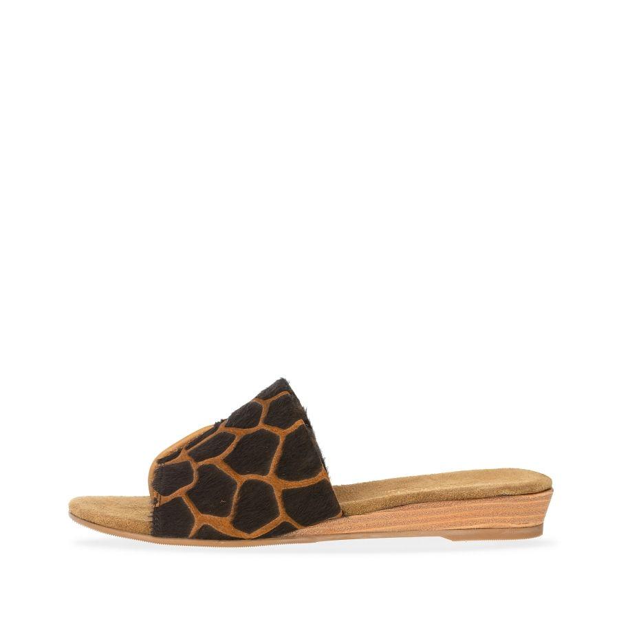 Babouche Abril slipper giraf brown_1