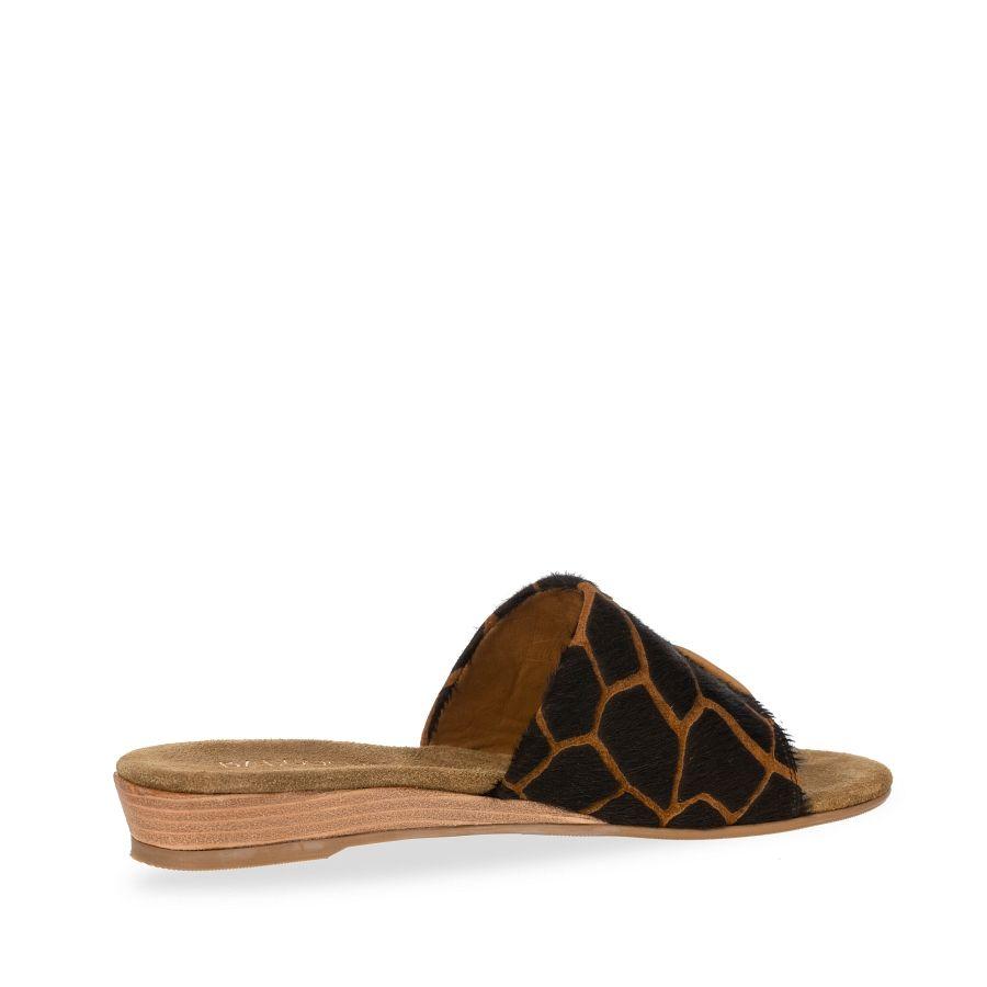 Babouche Abril slipper giraf brown_2