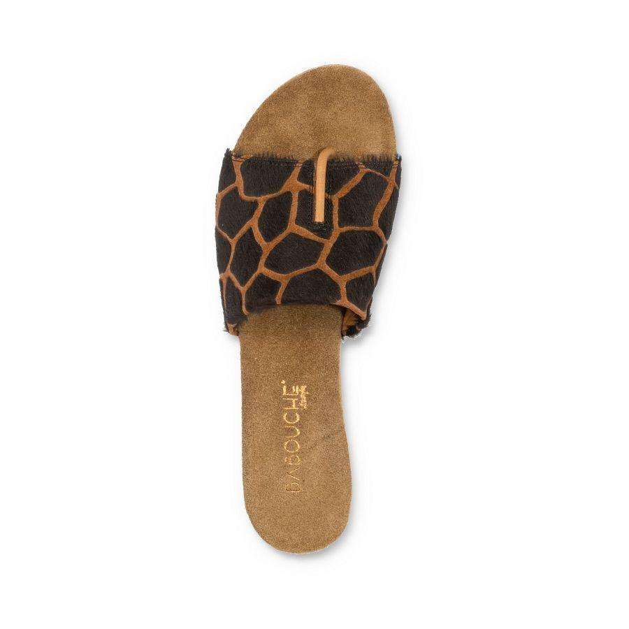 Babouche Abril slipper giraf brown_3