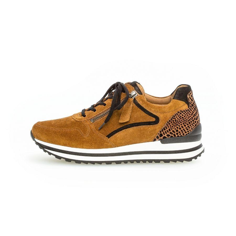 Gabor Qate print sneaker camel/zwart_1