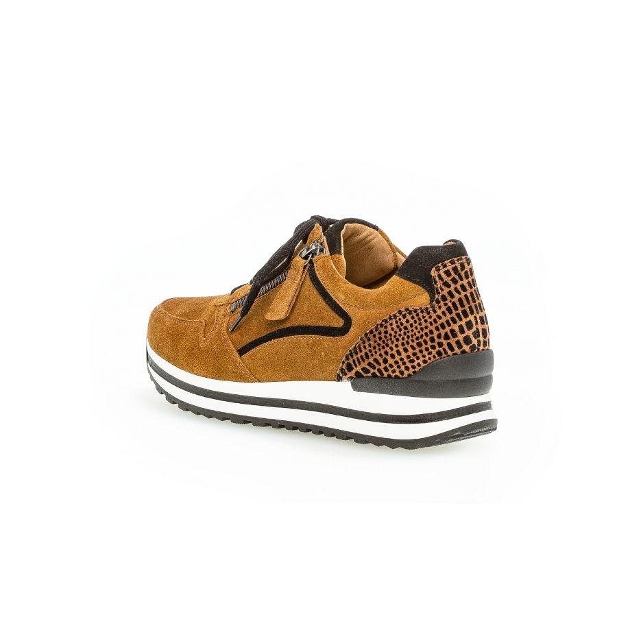 Gabor Qate print sneaker camel/zwart_2