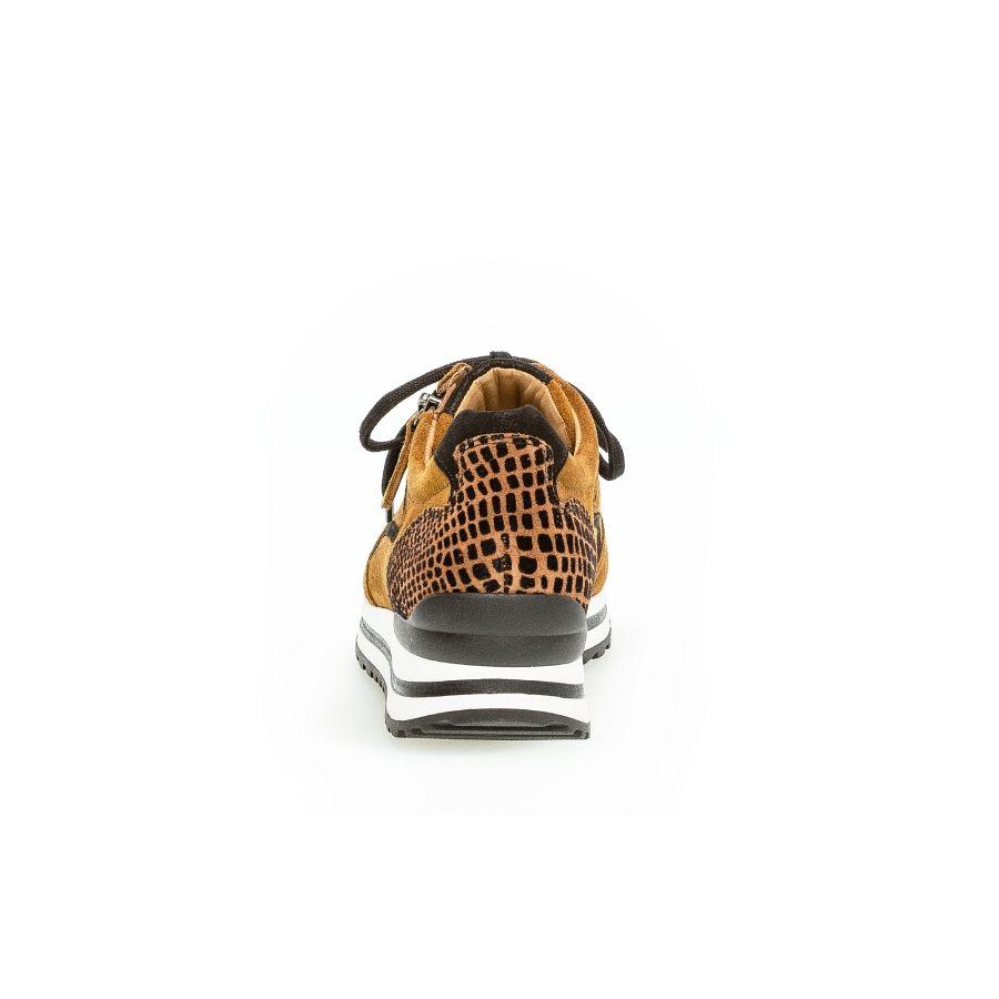 Gabor Qate print sneaker camel/zwart_3