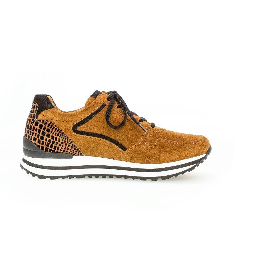 Gabor Qate print sneaker camel/zwart_4
