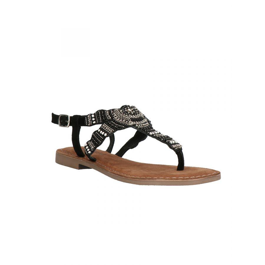 Lazamani Roja sandaal kraal black_1