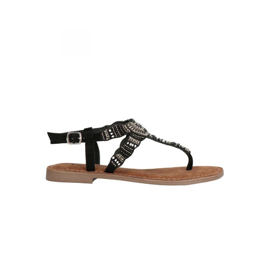 Lazamani Roja sandaal kraal black_2