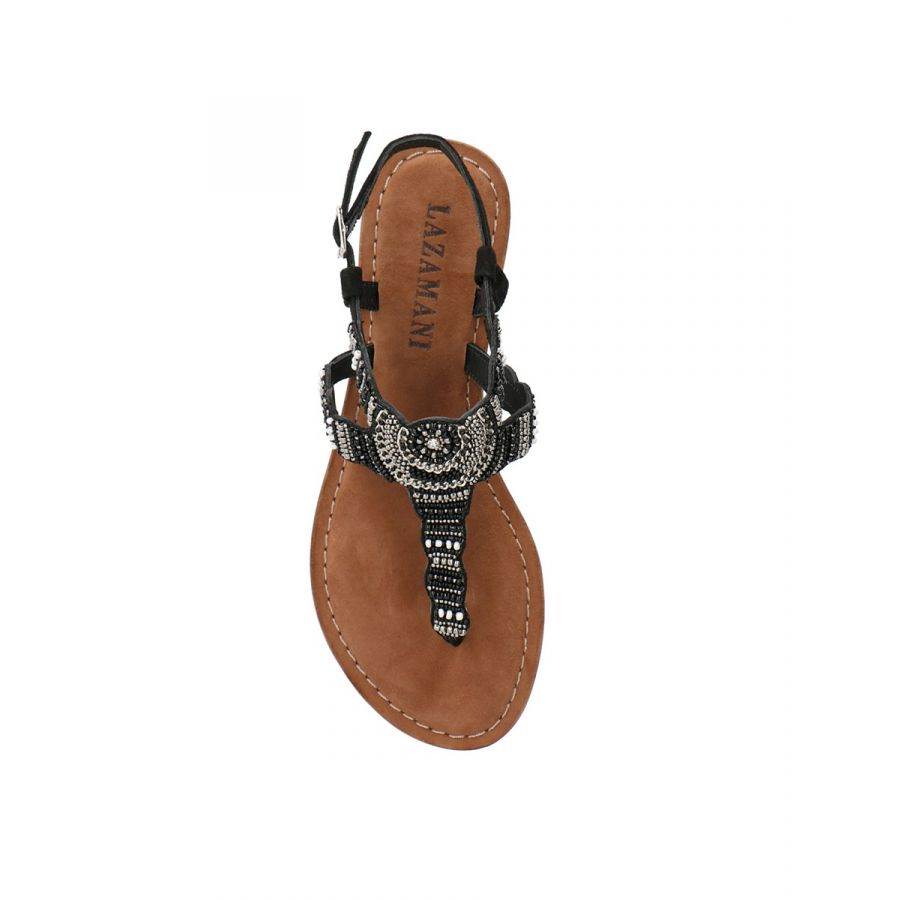Lazamani Roja sandaal kraal black_3