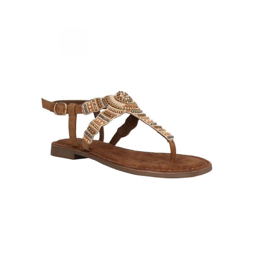 Lazamani Roja sandaal kraal beige_1