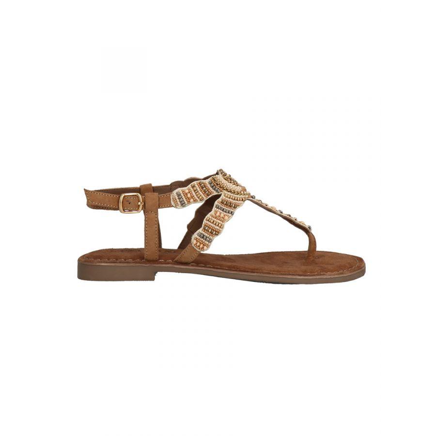 Lazamani Roja sandaal kraal beige_2