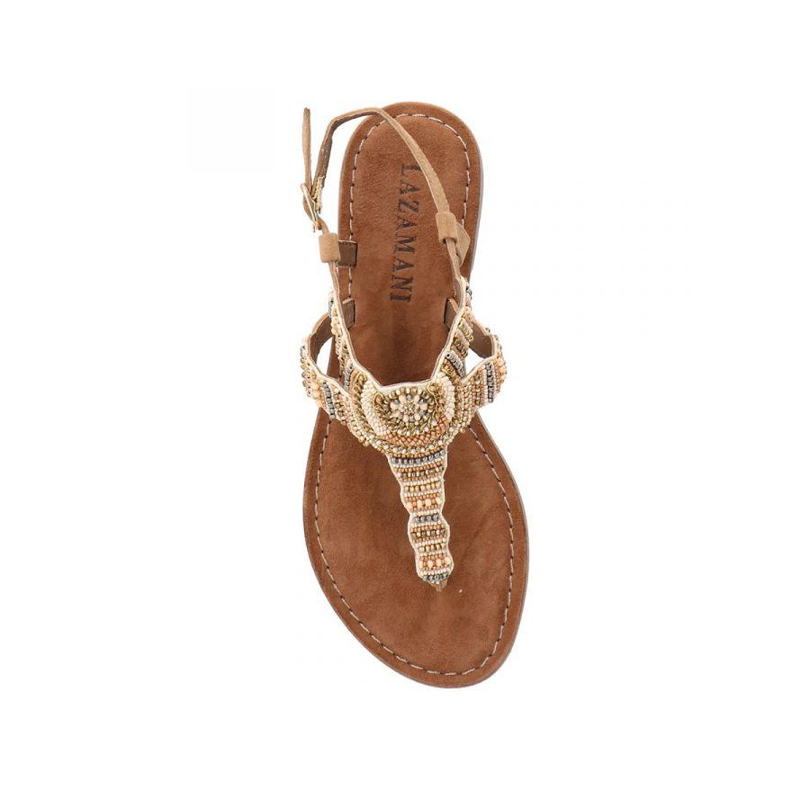 Lazamani Roja sandaal kraal beige_3