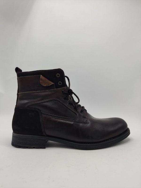 Mustang Shoes Chilwack veterboot leer bont bruin_1