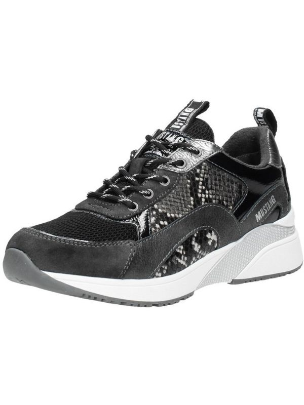 Mustang Shoes Lore sneaker graphit snake _2