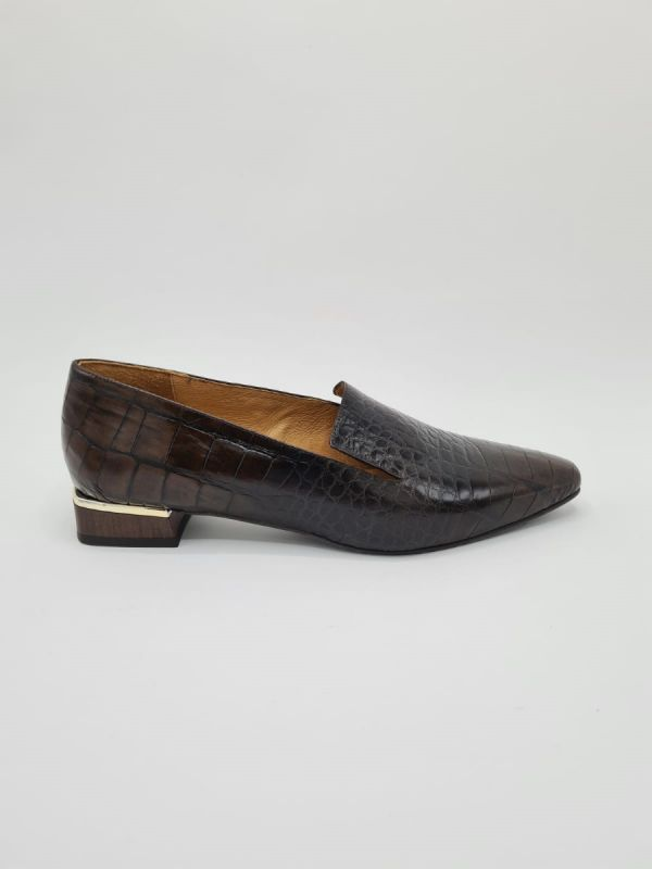 Frank Karlin loafer kroko brown_1