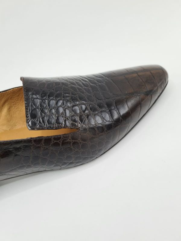 Frank Karlin loafer kroko brown_2