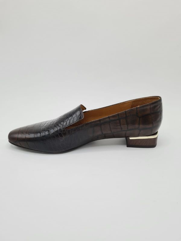 Frank Karlin loafer kroko brown_3