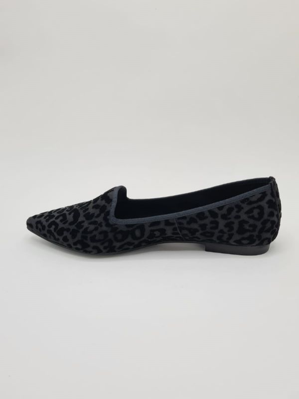 Frank Lindie loafer black velours print_3