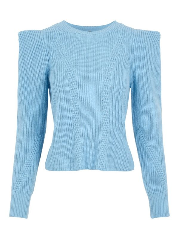 YAS Carlotta ls knit pullover dusk blue_1
