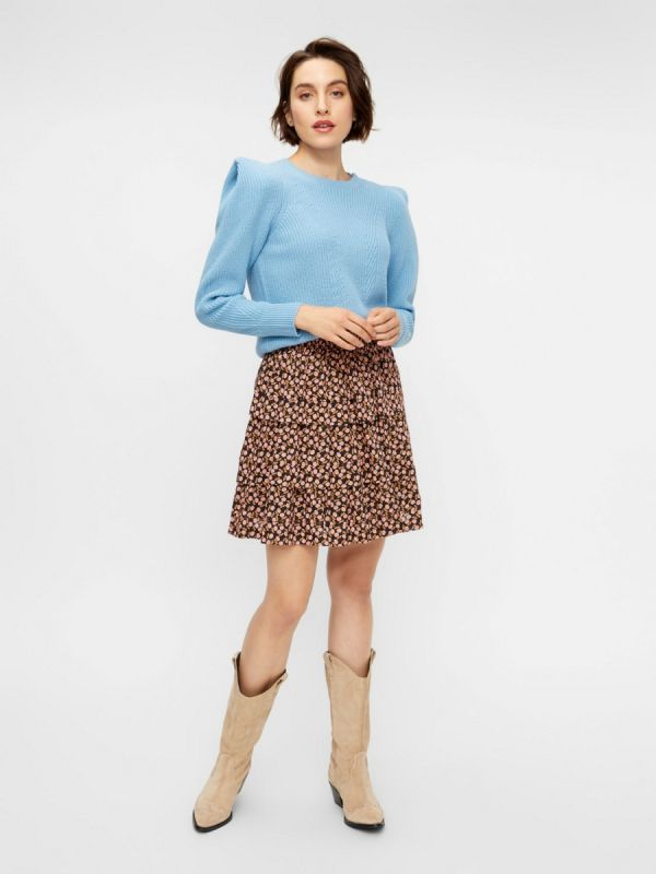 YAS Carlotta ls knit pullover dusk blue_2