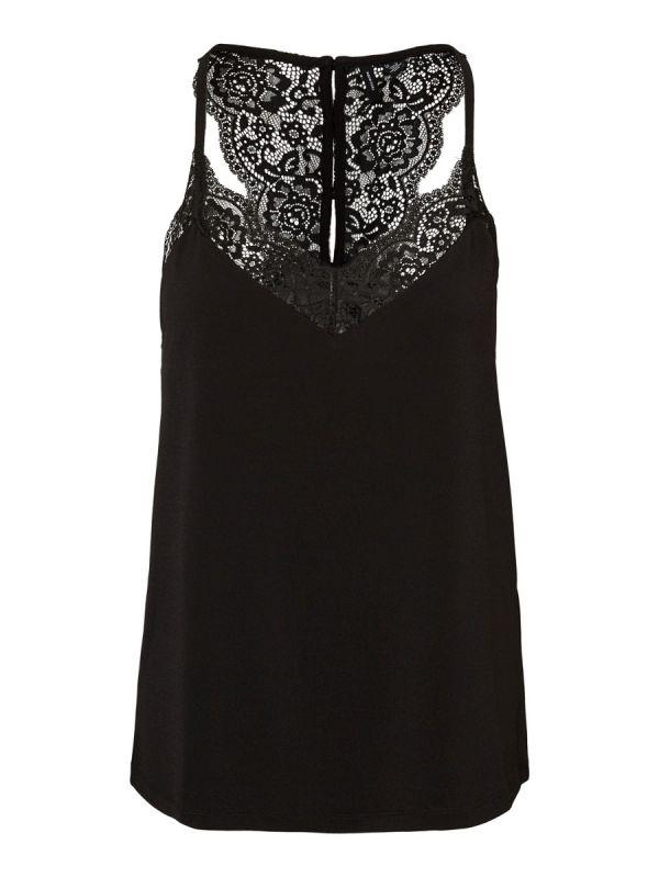 Vero Moda Ana s/l lace top black_1