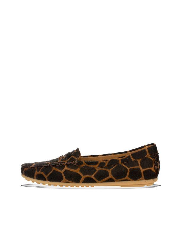 Babouche Abella moccasin giraf brown_1